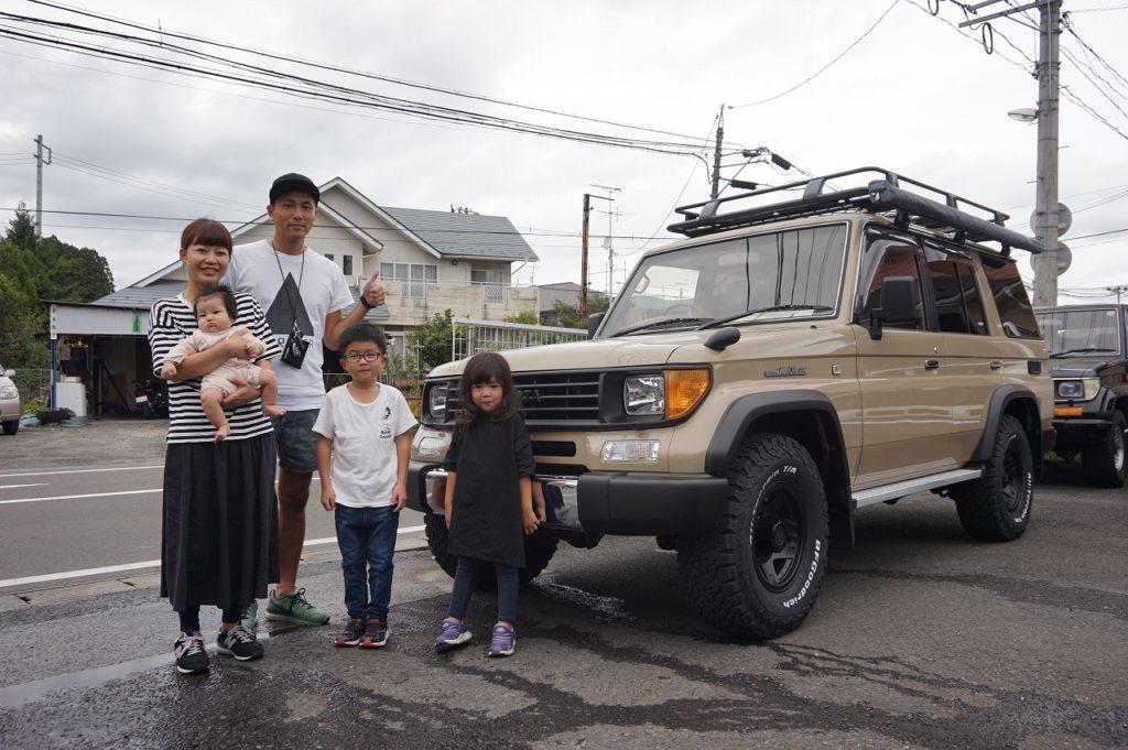 神奈川県○田様78プラドを納車させていただきました!