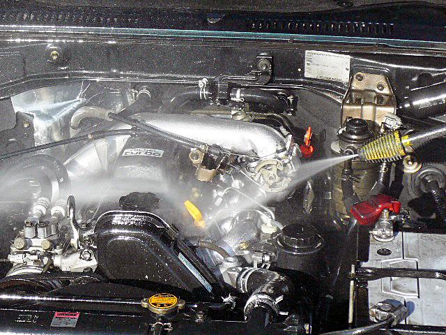 78プラドエンジンデグレザー高圧洗浄001