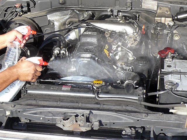 78プラドエンジンデグレザー高圧洗浄溶剤添付01