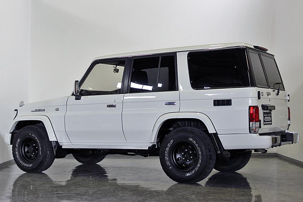 78プラド中古車ホワイト、マッドブラック沖縄県平田様10