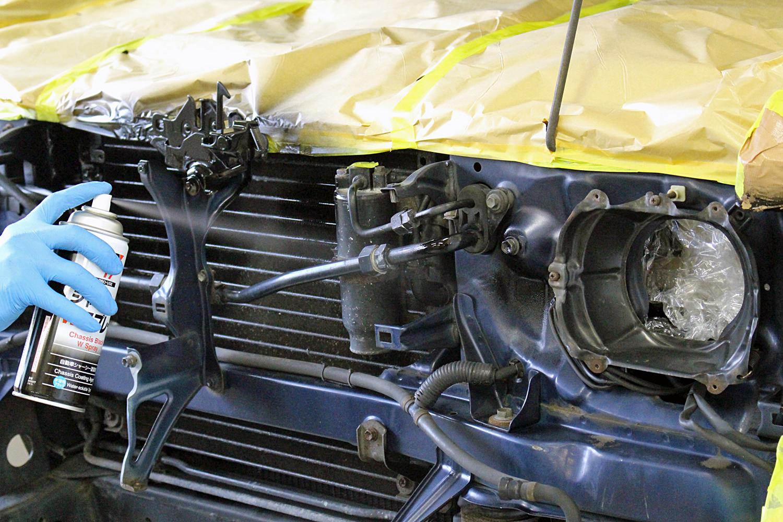 78プラド中古車足回りシャシーブラック3
