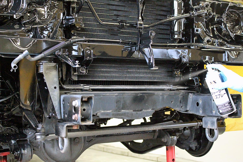 78プラド中古車足回りシャシーブラック4