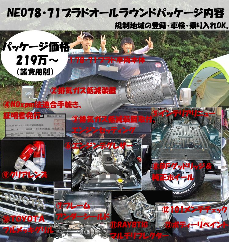 78プラド中古車排ガス規制対策パッケージ01